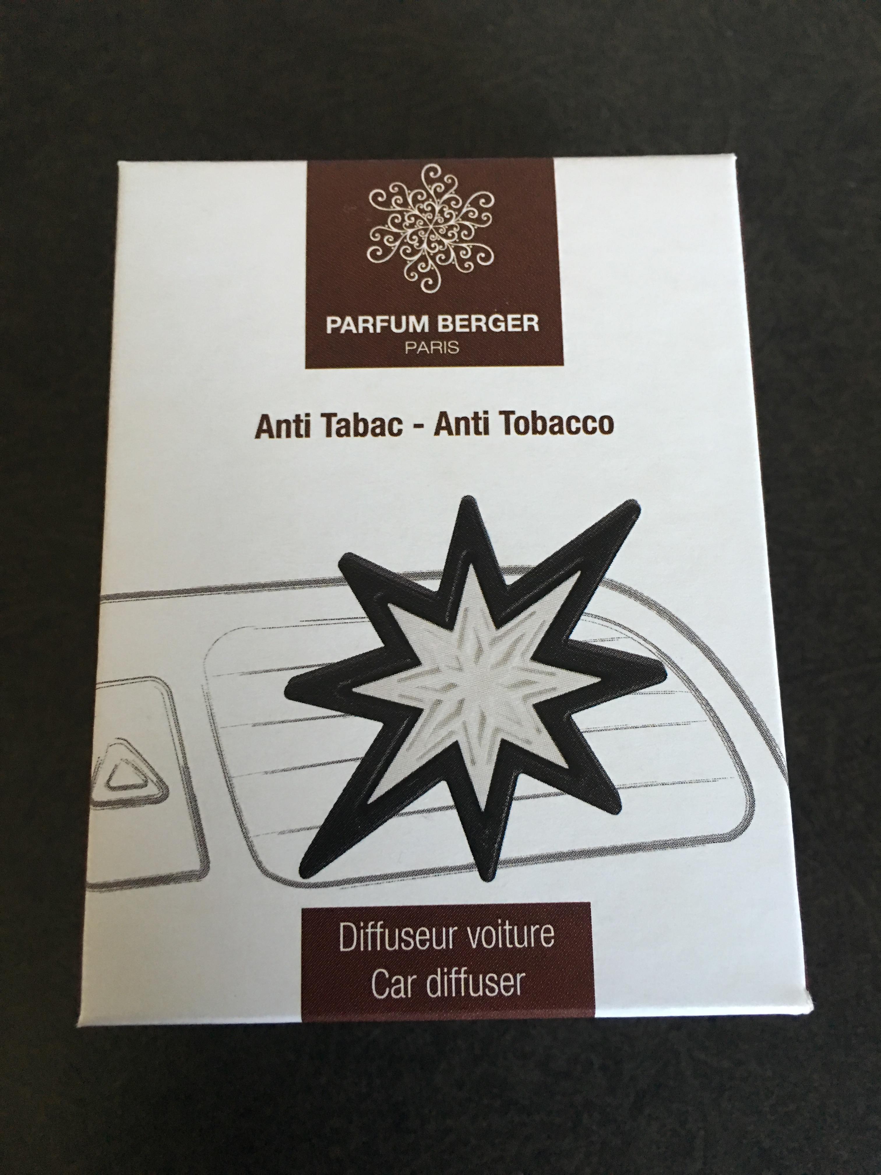 Parfum Berger Anti Tobacco Car Diffuser – CONTEST